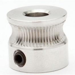 RepRap, Mendel, 3D Printer MK7 Drive Gear. Puleggia, For 5mm Nema17, steel 304
