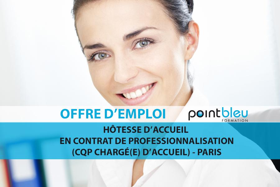 Offre D Emploi Hotesse D Accueil En Contrat De Professionnalisation