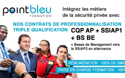 CONTRAT DE PROFESSIONNALISATION TRIPLE QUALIFICATION – CQP APS+SSIAP1+BSBE