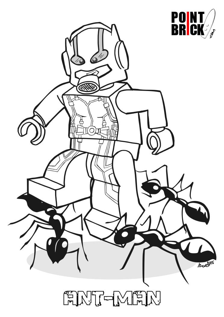 Point Brick Blog: Disegni da Colorare Lego: Ant-Man e Jasmine