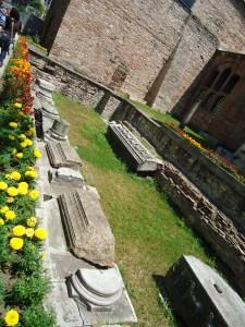 Remanants of the second church Hagia Sophia.
