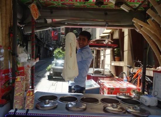Turkish Ice Cream Vendor Istiklal Avenue