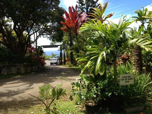 Entrance to Garden Gourmet Cafe/Garden of Eden in Hana