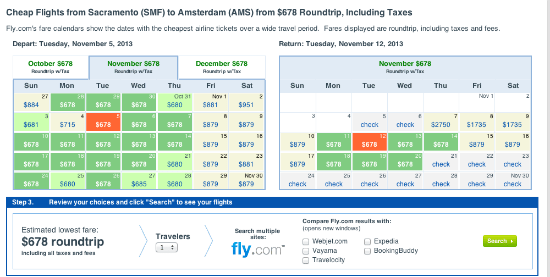 Fly.com Sacramento Fare Sale to Amsterdam and Paris