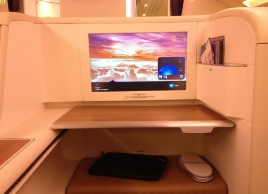Thai Airways First Class Seat and IFE A380