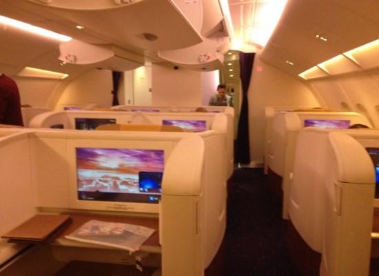 Thai Airways First Class Cabin A380 Tokyo - Bangkok