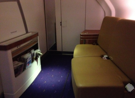 Thai Airways A380 First Class Onboard Lounge