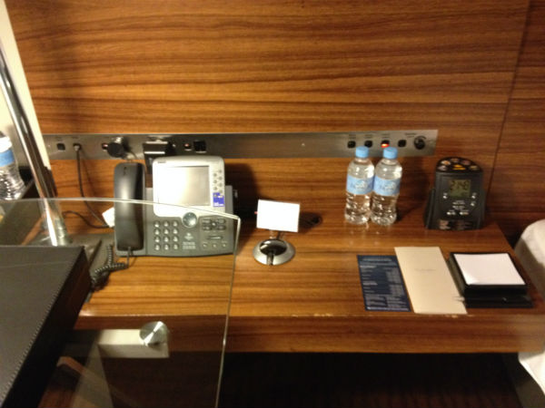 Hilton Sydney Executive Room bedside table