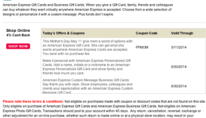 TopCashBack: No Fees + 3% Cash Back on Amex Gift Cards