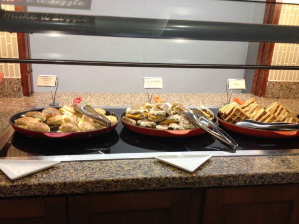 Hyatt Place LAX skillet breakfast sandwich