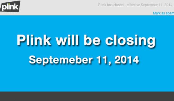 Plink App Shuts Down