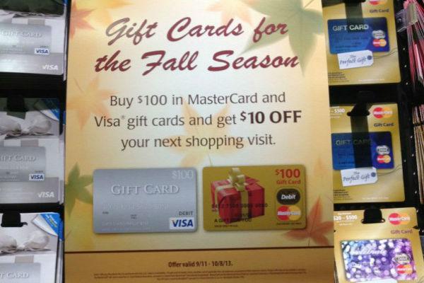 Visa Mastercard gift cards