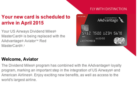 Barclay AAdvantage Aviator Red Card