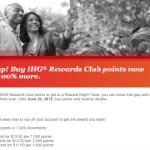 100% Bonus on IHG Rewards Club Point Purchases