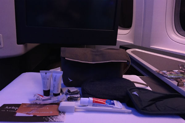 Amenity Kit: Cathay Pacific Business Class SFO - HKG