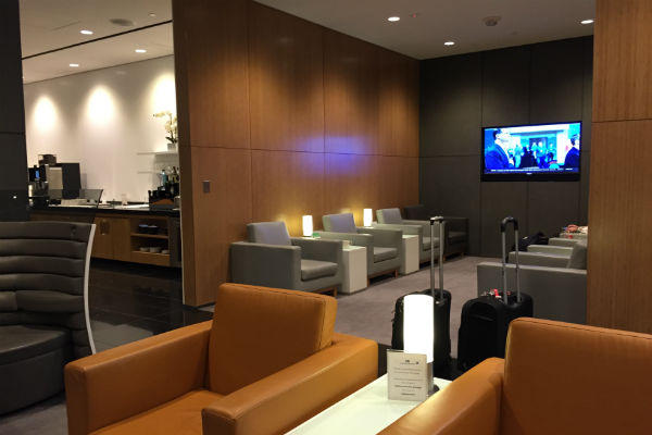 More seating at the Cathay Pacific Lounge