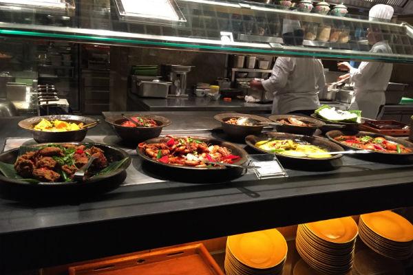 Straits Kitchen Dinner Buffet spread
