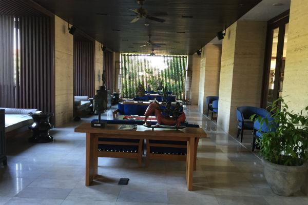 Conrad Bali Club Lounge outdoor seating area
