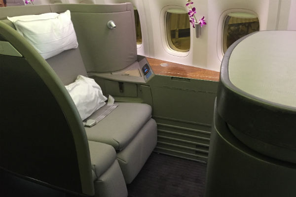 Cathay Pacific First Class Seat 1A
