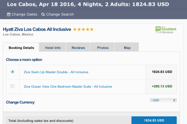 Cheap Hyatt Ziva Los Cabos Rates on Skoosh
