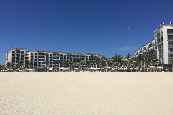 Hyatt Ziva Los Cabos as seen from the Beach
