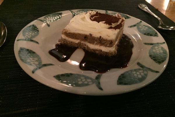 Tiramisu Dessert at Zaffiro Italian Restaurant Hyatt Los Cabos