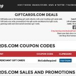 Using Yazing for 1.5% Cash Back at GiftCards.com and GiftCardMall