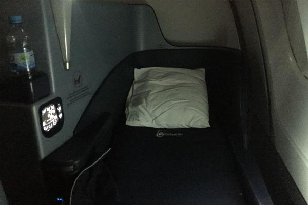 AirBerlin Business Class Lie-Flat Seat A330 San Francisco to Dusseldorf