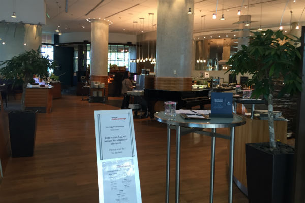 The Charles Lindbergh Restaurant at Hilton Munich Airport Hotel