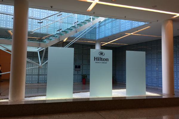 Hilton Munich Airport Hotel Sign