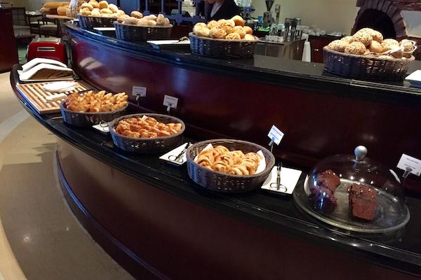 Large bread selection at Hyatt Regency Thessaloniki's Ambrosia breakfast buffet