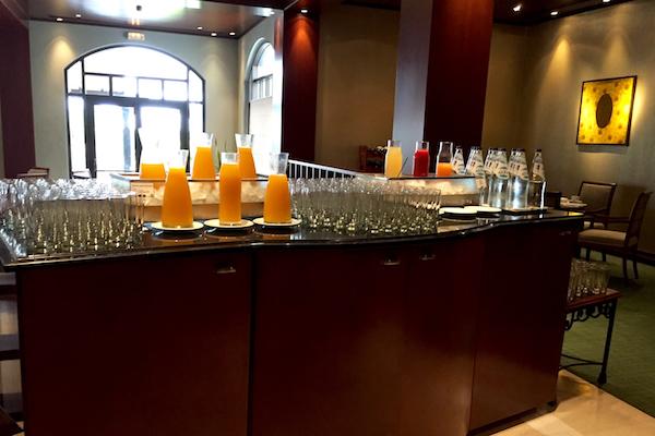 Juice Bar at the Ambrosia Restaurant breakfast buffet at Hyatt Regency Thessaloniki