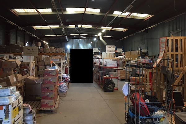 L'Auberge des Migrants warehouse in the Calais Jungle