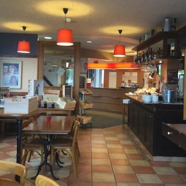 Market Style Breakfast Buffett Restaurant at Ibis Calais Hotel in France