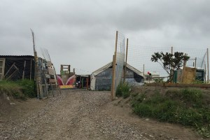 Makeshift Elementary School built in the Calais Jungle by the Jungle Books organization
