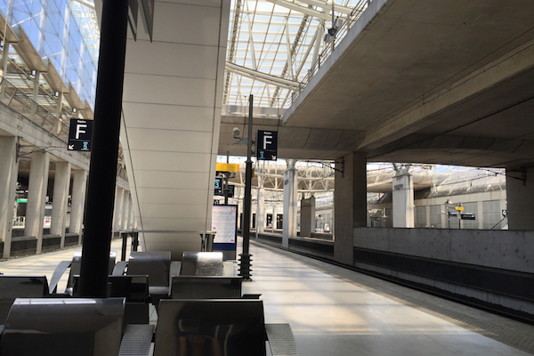 TGV Train Station at Paris Charles de Gaulle Airport