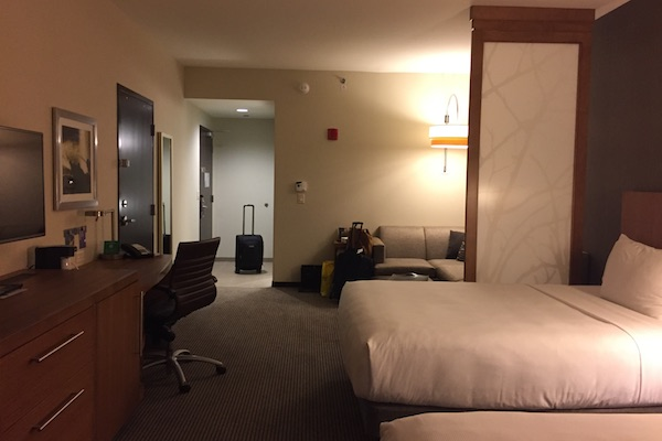 Spacious standard room at the Hyatt Place Chicago Downtown The Loop Hotel