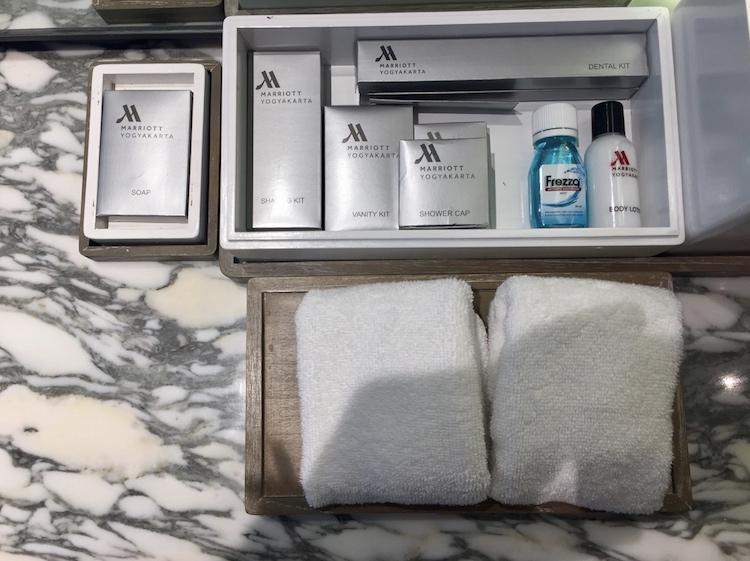 Marriott Yogyakarta shampoo and bath products