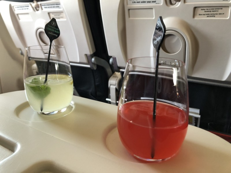 Turkish Airlines Business Class Review welcome drinks VIE - IST