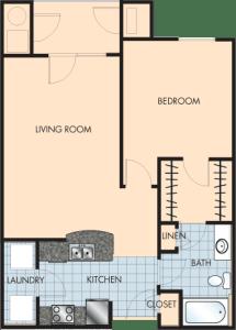 1 Bed / 1 Bath / 821 sq ft / Rent: $1,410