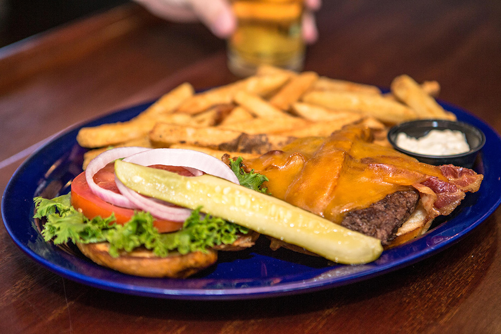 Burgers and beers available Monday through Sunday at The Pointe at Lake Gaston