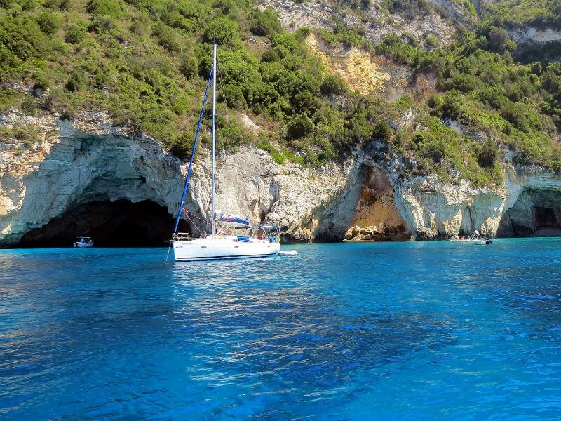 Blue Caves Paxos - Οι γαλάζιες σπηλιές, φυσικο σε Παξούς