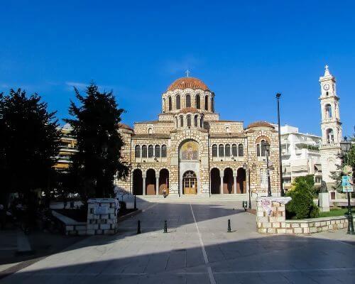 Agios Nikolaos Square-Volos-Greece-Cathedral