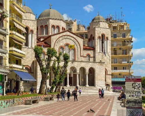 Town square Greece