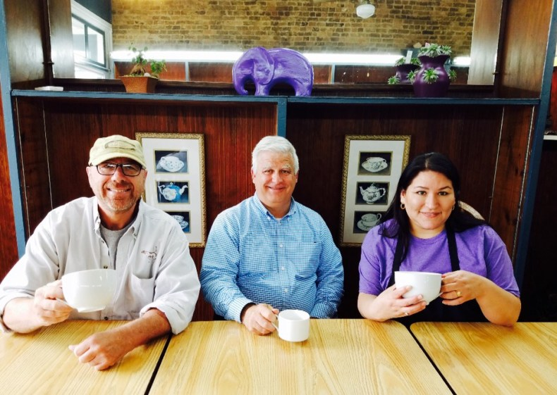 Dr. John White, Mike Wiles and Sonia Guzman