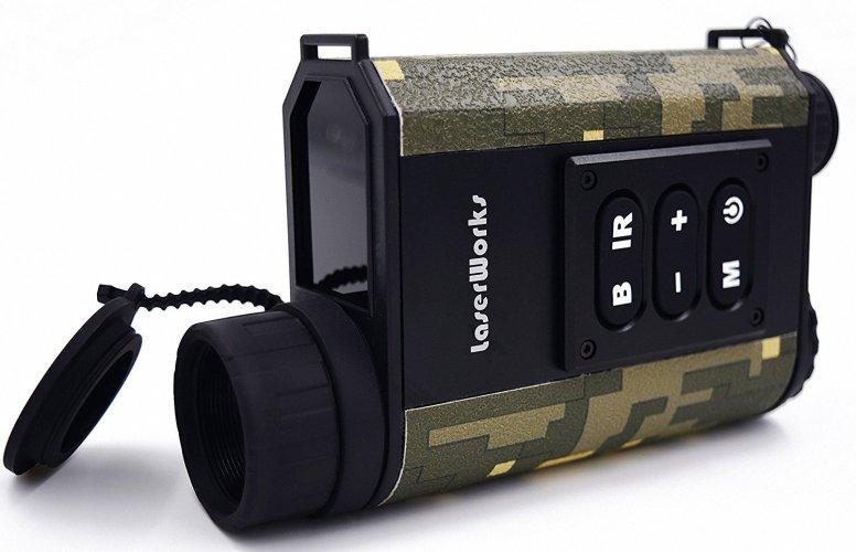 LaserWorks LRNV009 Day and Night Multifunction Laser Ranging Night Vision Monocular