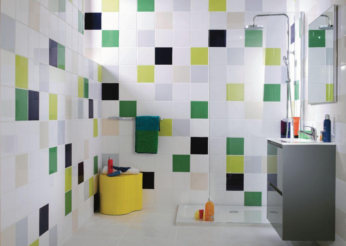 Arte One Carrelage Mural Interieur Faience Archicolor Blanc Brillant 19 8x19 8 Cm Point P