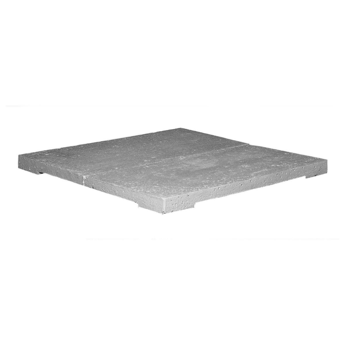 couvercle beton pour abri kit 80 x 80