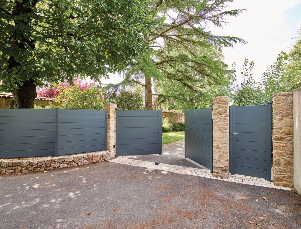 kit portail aluminium alu line lames