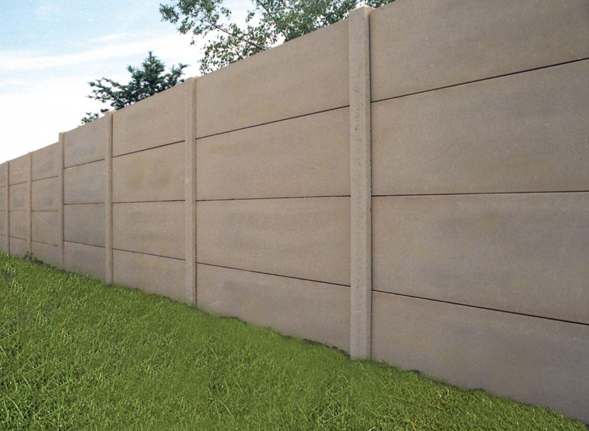 Rousseau Clotures Panneau Lisse Beton Cloture Mur Plein N 5 Rousseau Clotures 1920x500 Mm Ep 33 Mm Point P